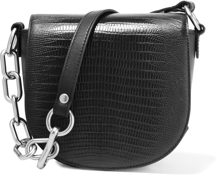 Alexander Wang Alexander Wang Mini Lia snake-effect leather shoulder bag