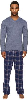 Original Penguin Fleck Flannel PJ Set Men's Pajama Sets