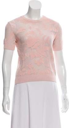 Ermanno Scervino Patterned Short Sleeve Top