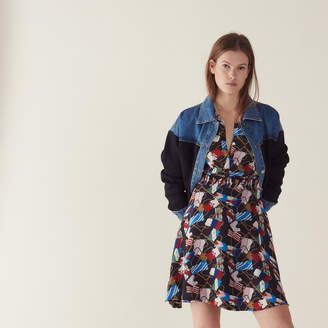 Sandro Flowing dress with all-over print