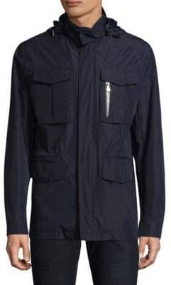 Corneliani Wool Hooded Utility Jacket