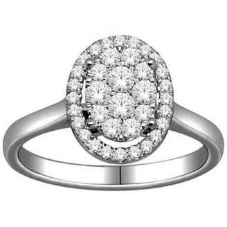Imperial Diamond Imperial 1/2 Carat T.W. Diamond 10kt White Gold Oval-Shape Engagement Ring