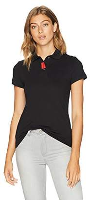 Calvin Klein Jeans Women's Short Sleeve Polo Shirt with Logo Placket