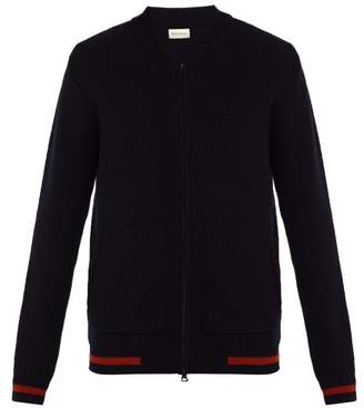 Oliver Spencer Manor Zip Through Wool Cardigan - Mens - Navy
