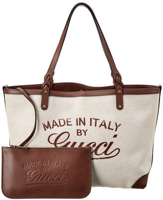 Gucci Gg Canvas & Leather Craft Tote