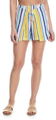 Nanette Lepore Amalfi Coast Striped Cotton Coverup Shorts