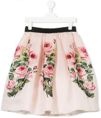Dolce & Gabbana floral print pleated skirt