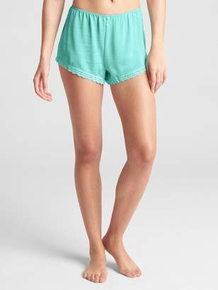 Gap Dreamwell Satin Shorts with Lace Detail