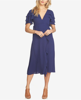 1.state Ruffled Faux-Wrap Dress $129 thestylecure.com
