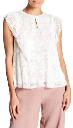 Lucy Paris Pleated Ruffle Blouse
