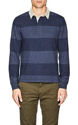 Ralph Lauren Purple Label Men's Striped Cashmere Polo Sweater - Navy
