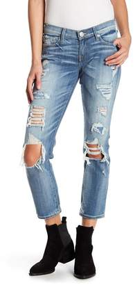 True Religion Ripped Straight Leg Jeans