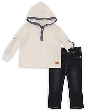 7 For All Mankind Baby's & Little Boy's Two-Piece Hooded Top & Jeans Set