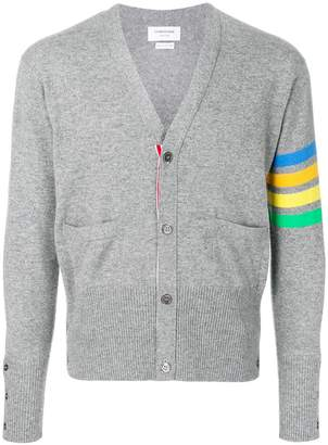 Thom Browne v-neck striped sleeve cardigan