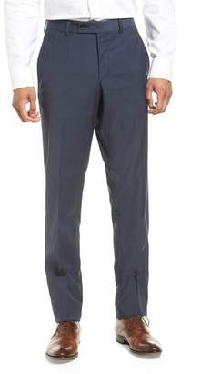 Ted Baker Jefferson Flat Front Stretch Wool Trousers