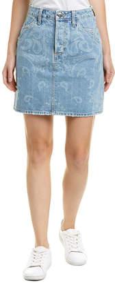 Jonathan Simkhai Johnathan Simkhai Printed Denim Mini Skirt