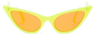 Le Specs The Prowler Cat Eye Acetate Sunglasses - Womens - Yellow