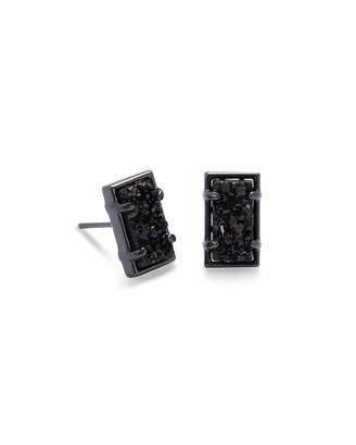 Kendra Scott Paola Gunmetal Stud Earrings in Black Drusy