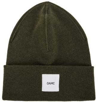 Oamc Army Green Fine-knit Wool Beanie