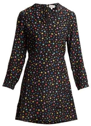 Hvn - Lou Rainbow Star Print Silk Dress - Womens - Black Print