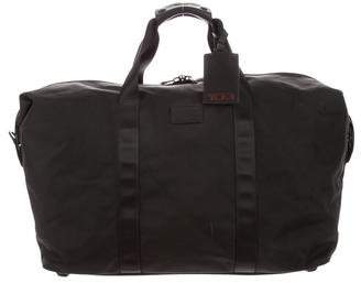 Tumi Leather-Trimmed Woven Duffle