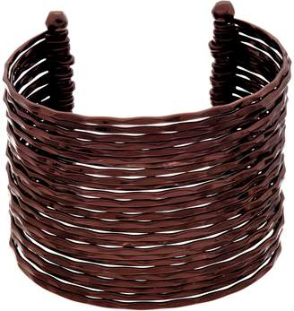 Linea By Louis Dell'olio Louis by Louis Dell'Olio Faceted Metal Multi Row Cuff