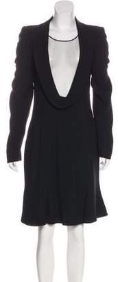 Alexander McQueen Crepe A-Line Dress