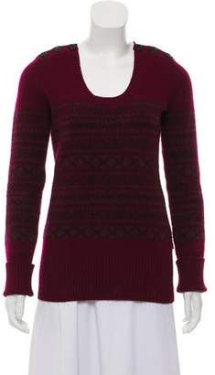 Burberry Knit Scoop Neck Sweater