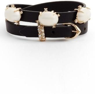 Women's Alexis Bittar Stone Leather Wrap Bracelet & Choker $175 thestylecure.com