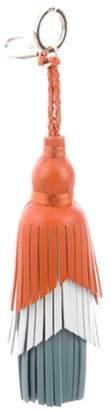 Anya Hindmarch Leather Tassel Keychain Orange Leather Tassel Keychain