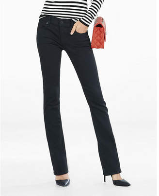 Express black low rise stretch barely boot jeans