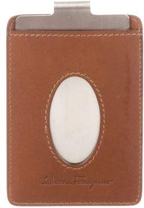 Salvatore Ferragamo Leather Money Clip