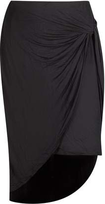 Laundry by Shelli Segal French Plus Size Knotted Tie Midi Skirt -Size: Color