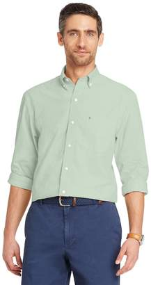 Izod Men's Classic-Fit Essential Solid Woven Button-Down Shirt