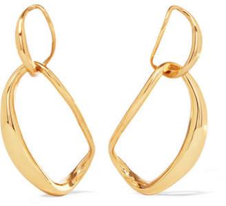 Liquid Chain Gold-plated Earrings