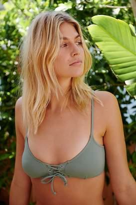rhythm Sunchaser Lace-Up Bikini Top