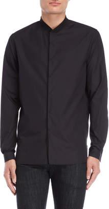 Stampd Knit Collar Long Sleeve Shirt