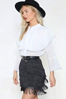 Nasty Gal Cape It Between Us Chiffon Top
