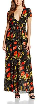 Glamorous Women's Printed Maxi Floral Short Sleeve Dress,8 (Manufacturer Size:X-Small)
