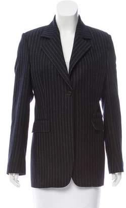 Black Fleece Pinstripe Notch-Lapel Blazer