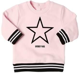Givenchy Flocked Cotton Blend Sweatshirt
