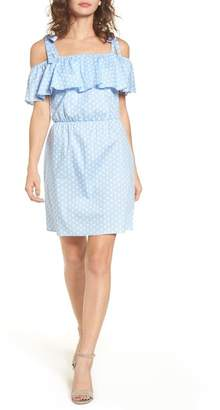 Everly Ruffle Cold Shoulder Dress