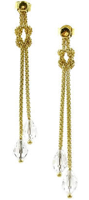Savvy Cie 18K Over Silver Crystal Earrings