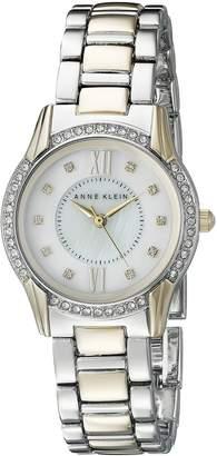 Anne Klein Women's AK/2161MPTT Swarovski Crystal Accented Two-Tone Bracelet Watch