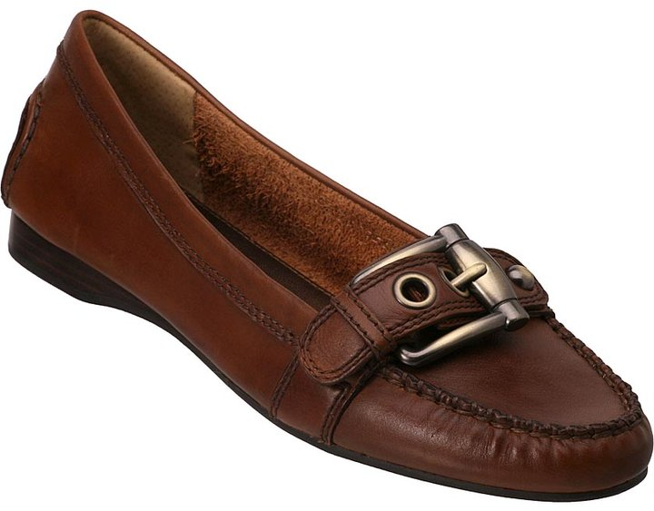 Kush Brown Leather Buckle Loafer Franco Sarto 87-9225