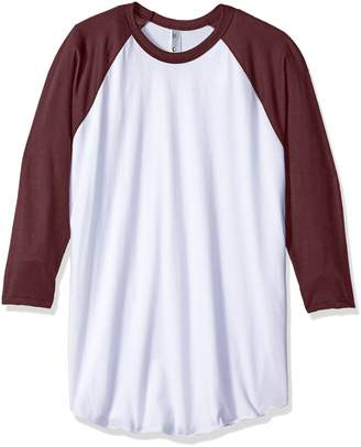 American Apparel Men's Poly-Cotton 3/4 Sleeve Raglan Shirt