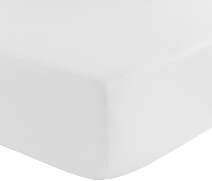 Olivier Desforges - Alcove Fitted Sheet - White - Super King