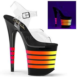 Pleaser USA Women's Flam808uvln/c/b-Uvln Platform Sandal