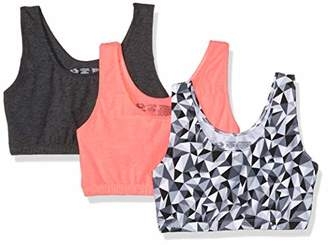 8a382c8824917 Fruit of the Loom Women s Built-Up Sports Bra 3 Pack Bra
