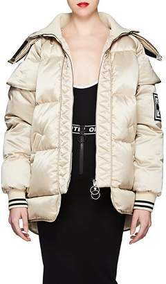 Off-White Women's Satin Puffer Coat
